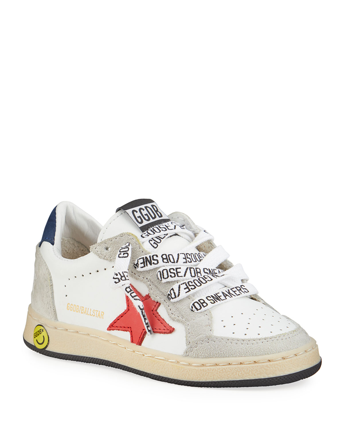 Golden Goose BALL STAR LEATHER LOW-TOP SNEAKERS, KIDS