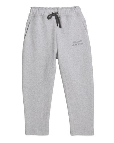 Boy's Drawstring Jogger Pants, Size 8-10