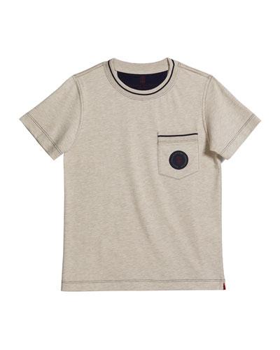 Boy's Chest Pocket Jersey T-Shirt, Size 8-10
