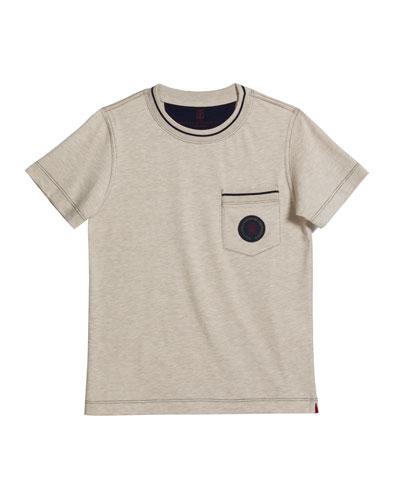 Boy's Chest Pocket Jersey T-Shirt, Size 12-14