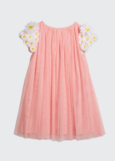 Girl's Tulle 3D Butterfly Dress, Size 6-12