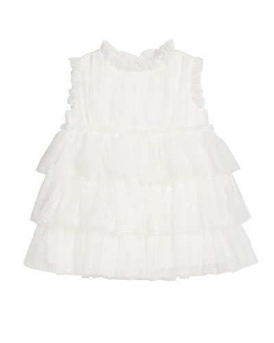 Girl's Tiered Sleeveless Dress, Size 12M-2
