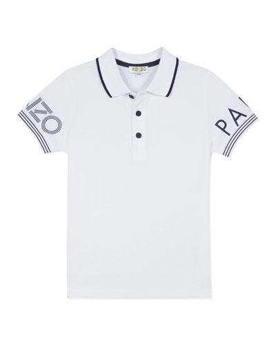 Boy's Logo Polo Shirt, Size 2-6