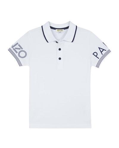 Boy's Logo Polo Shirt, Size 8-12