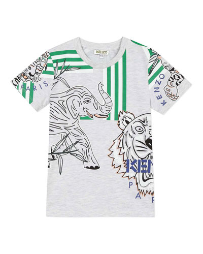 Boy's Multi Icon Graphic T-Shirt, Size 8-12