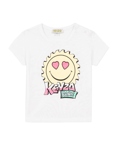 Girl's Multi-Iconic Smiley Face Graphic Tee, Size 6-18 Months