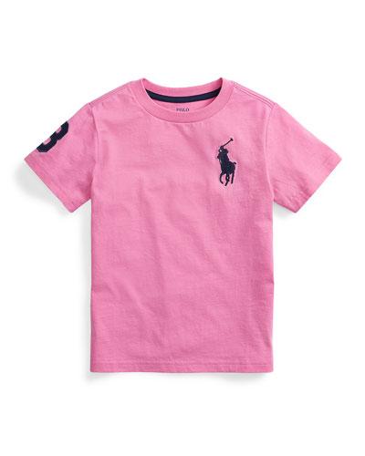 Boy's Big Pony Jersey T-Shirt, Size 5-7