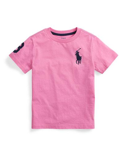 Boy's Big Pony Jersey T-Shirt, Size 2-4