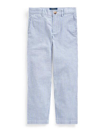 Boy's Striped Seersucker Pants, Size 5-7