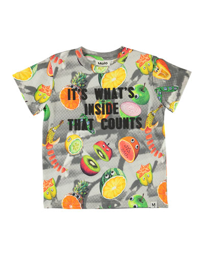 Raymont Multicolored Fruit-Print T-Shirt, Size 4-12