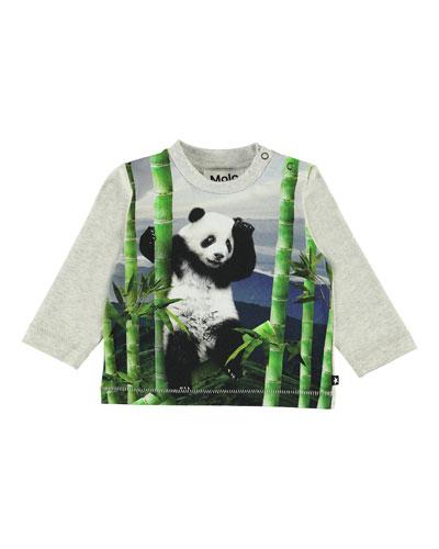 Kid's Enovan Panda Print Long-Sleeve Tee, Size 6-24 Months