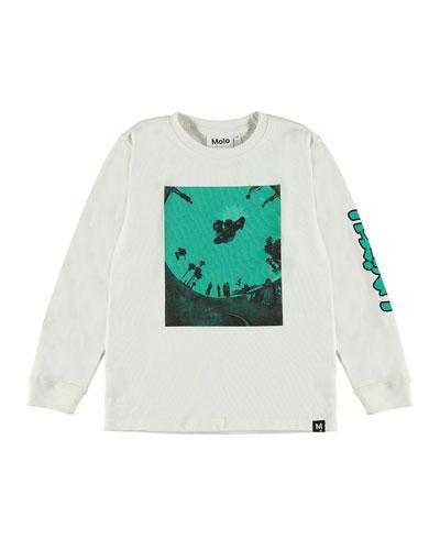 Boy's Rogert Skateboarder Graphic Long-Sleeve T-Shirt, Size 4-12