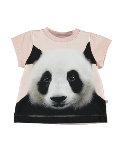 Girl's Elly Panda Graphic Short-Sleeve Tee, Size 6-24 Months