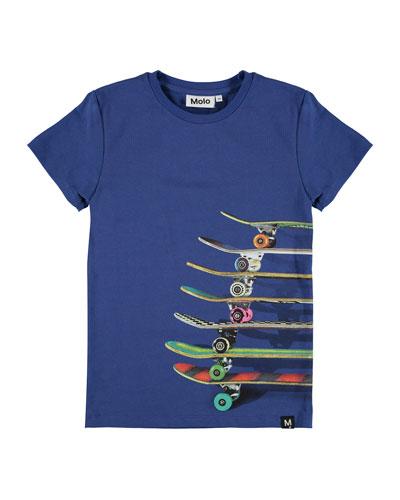 Boy's Raven Skateboard Print Short-Sleeve Tee, Size 4-12
