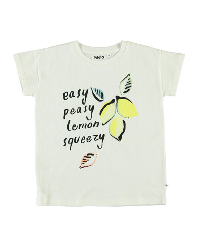 Girl's Robine Easy Peasy Lemon Squeezy Graphic Tee, Size 3-14