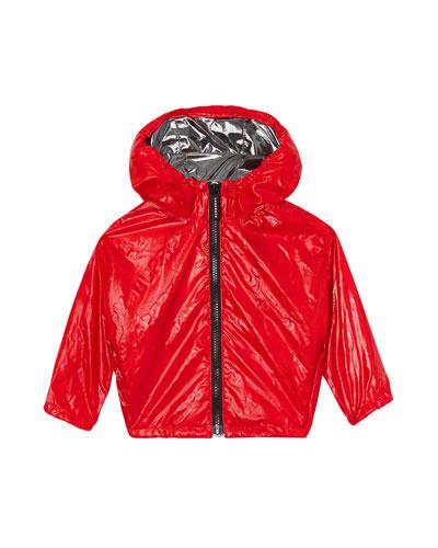 Boy's Lorenzo Embossed Logo Wind-Resistant Jacket, Size 18M-2