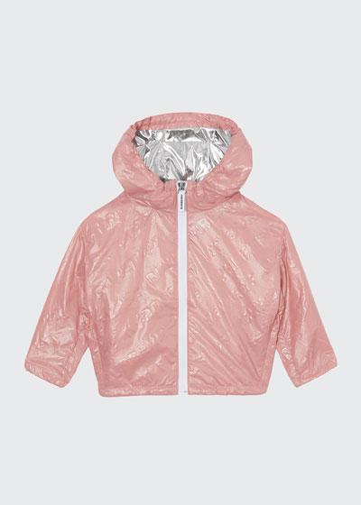 Girl's Lorenzo Embossed Logo Rain Jacket, Size 12M-2