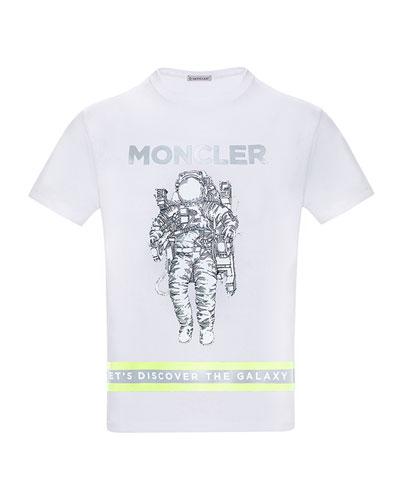 Boy's Logo Astronaut Jersey T-Shirt, Size 8-14