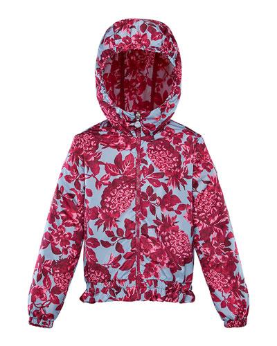 Girl's Pineapple Print Technique Jacket, Size 8-14