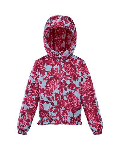 Girl's Pineapple Print Technique Jacket, Size 4-6
