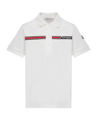 Boy's Short-Sleeve Logo Polo Shirt, Size 4-6