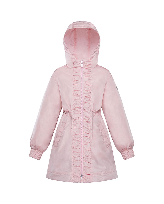 Moncler Coats GIRL'S LIKA RUCHED TRIM LONG COAT
