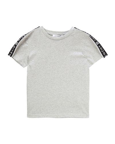Boy's Logo Trim Mini Me T-Shirt, Size 12-14