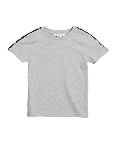 Boy's Logo Trim Mini Me T-Shirt, Size 4