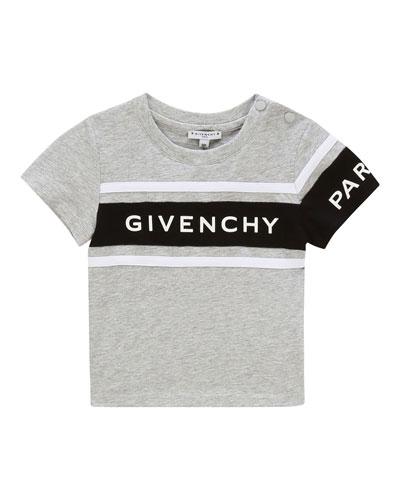 Boy's Logo Rubber Ink Short-Sleeve T-Shirt, Size 12-18 Months
