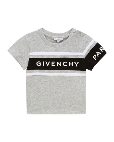 Boy's Logo Rubber Ink Short-Sleeve T-Shirt, Size 2-3