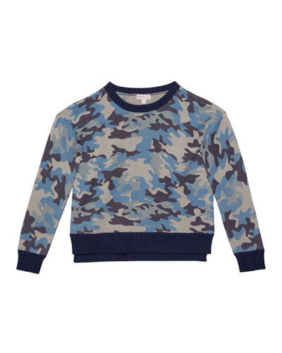 Girl's Camo Sweater, Size S-XL