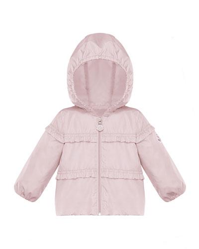 Hiti Ruffle Trim Hooded Jacket, Size 12M-3