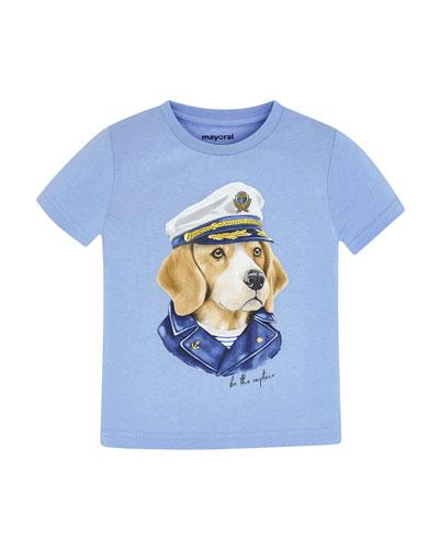 Boy's Dog Captain Graphic T-Shirt, Size 4-7