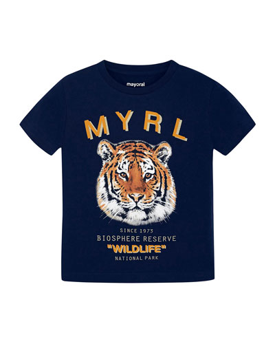 Boy's Tiger Graphic Short-Sleeve T-Shirt, Size 4-7