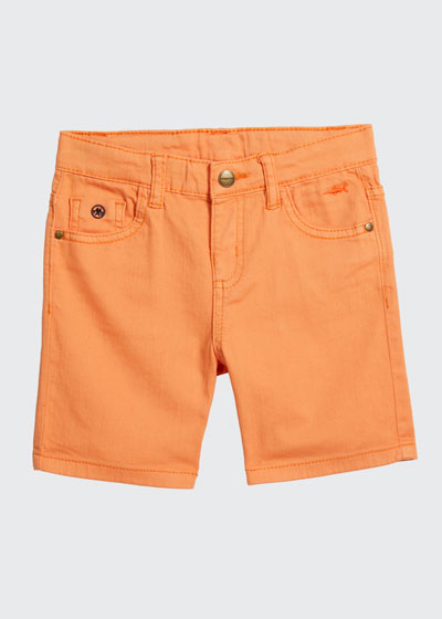 Boy's Five-Pocket Twill Shorts, Size 4-7