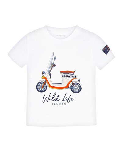 Boy's Moped Graphic Short-Sleeve T-Shirt, Size 4-7