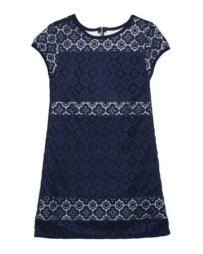 Girl's The Janet Stretch Crochet Lace Dress, Size S-XL