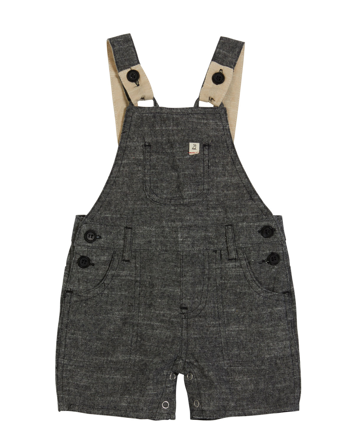 Me & Henry Jumpsuits BOY'S WOVEN COTTON OVERALLS W/ CHILDREN'S BOOK
