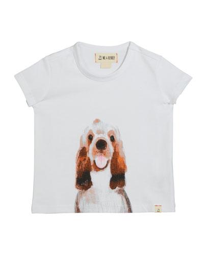 Boy's Dog Graphic T-Shirt w/ Children's Book, Size 0-6