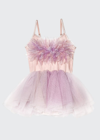 Girl's Passion Petal Tulle Tutu Dress, Size 6-24 Months
