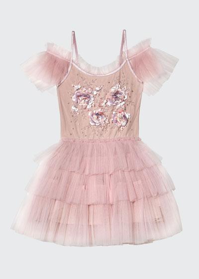 Girl's Gypsy Sequin Ruffle Tutu Dress, Size 2-11