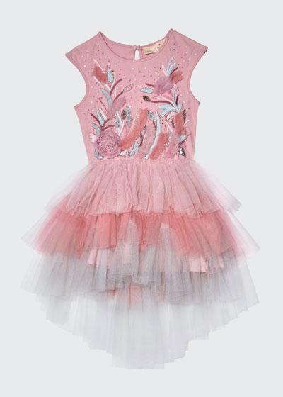 Girl's Wild Hearts Tutu Dress, Size 2-11