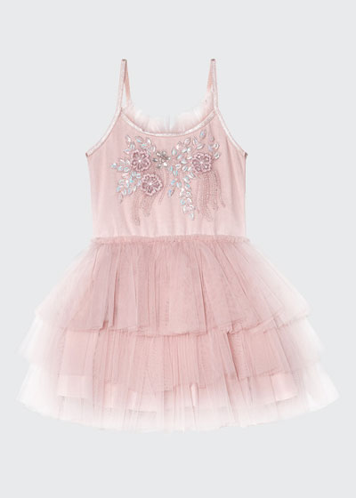 Girl's Day Dream Believer Sequin Embroidered Tutu Dress, Size 6-24 Months