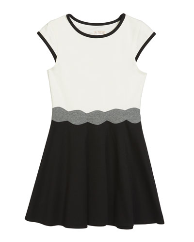 Girl's The Shelby Ponte Colorblock Dress, Size S-XL