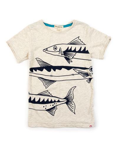 Boy's Barracuda Graphic Short-Sleeve Tee, Size 2-14