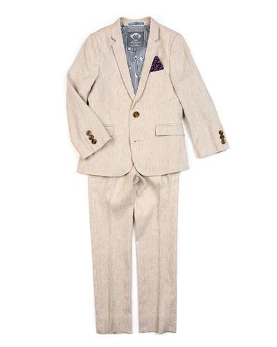 Boy's Two-Piece Mod Linen-Blend Suit, 2-14