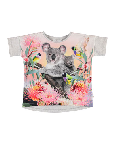 Girl's Raeesa Koala Print Tee, Size 3-10