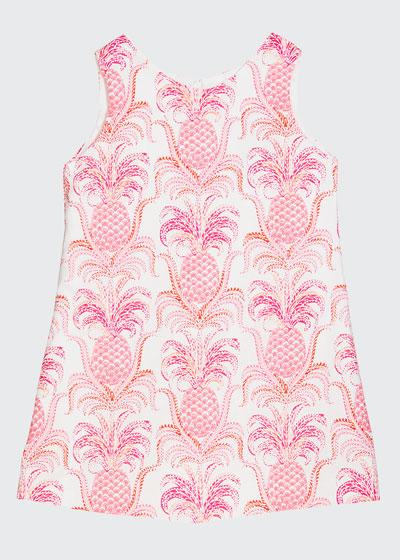 Girl's Pineapple Sleeveless A-Line Dress, Size 12M-3