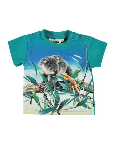 Emilio Koala Print Short-Sleeve Tee, Size 6-24 Months