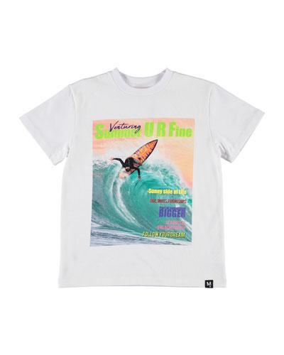 Boy's Roxo Surfer Magazine Cover Print Tee, Size 4-12